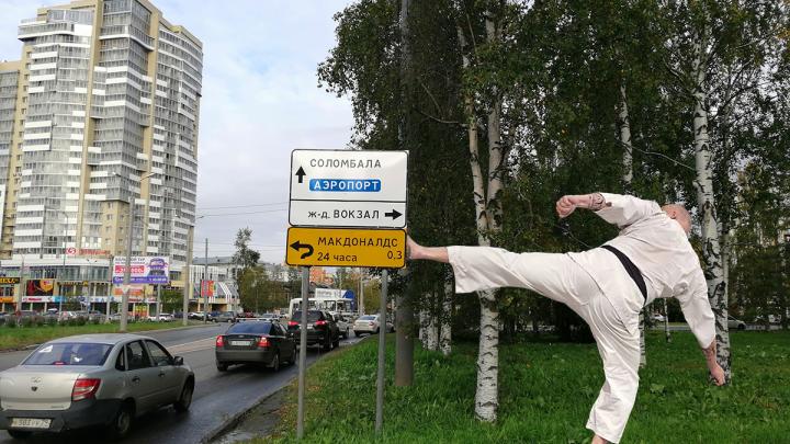 До «Макдоналдса» далеко? Журналист 29.RU рассуждает, законны ли желтые дорожные указатели?