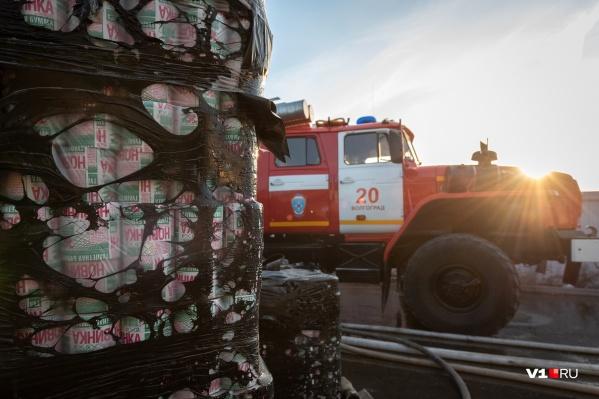 Пожарные боролись с огнем больше двух часов
