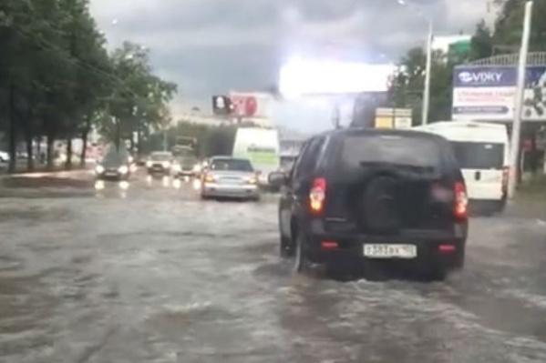Потоп на улице 50 лет СССР
