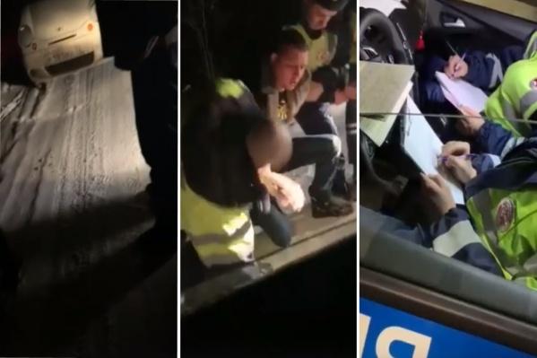 По словам инспекторов, мужчина вёл себя агрессивно, когда его попросили предъявить документы. Но тюменка сняла на видео, как обстояла ситуация на самом деле