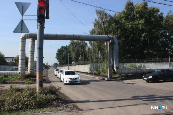 Новый путепровод, построенный параллельно улице Переходникова