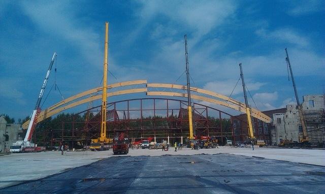 Крыша красноярского стадиона «Енисей» будет самой широкой в Российской Федерации