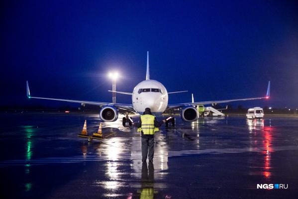 Один из рейсов из Новосибирска вернулся в город через полтора часа после вылета