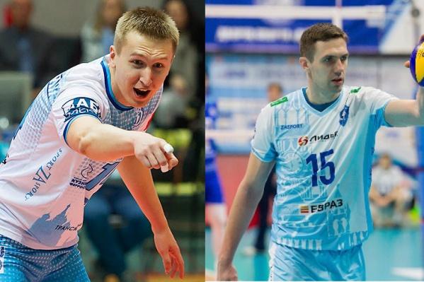 Дмитрий Щербинин (слева) является блокирующим, а Павел Круглов (справа)— диагональный
