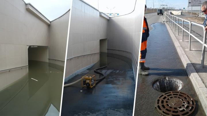 «Воды было под потолок»: потоп в подземном переходе у «Самара Арены» ликвидировали