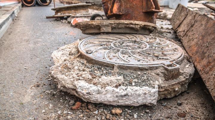 В Самаре из-за повреждения колодца перекрыли улицу Ставропольскую