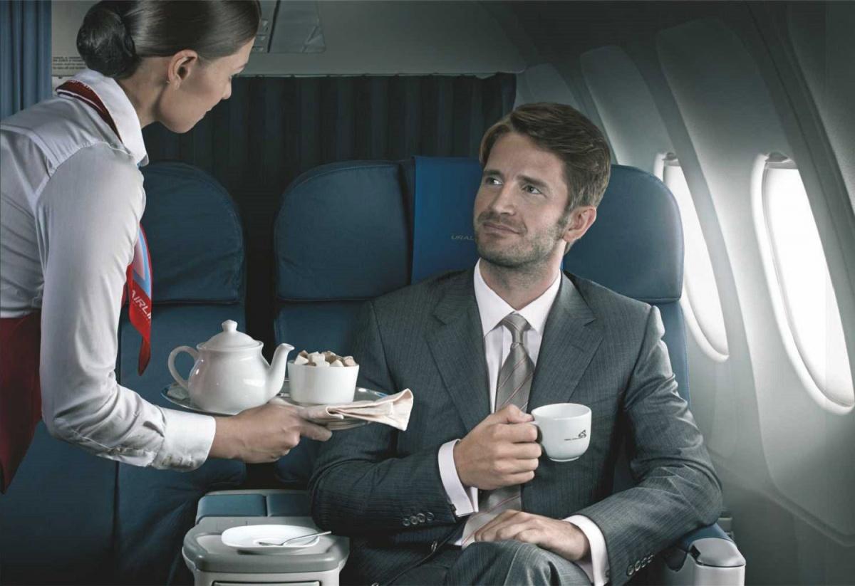 Пассажирам бизнес-класса «Уральских авиалиний» предложили летать за полцены