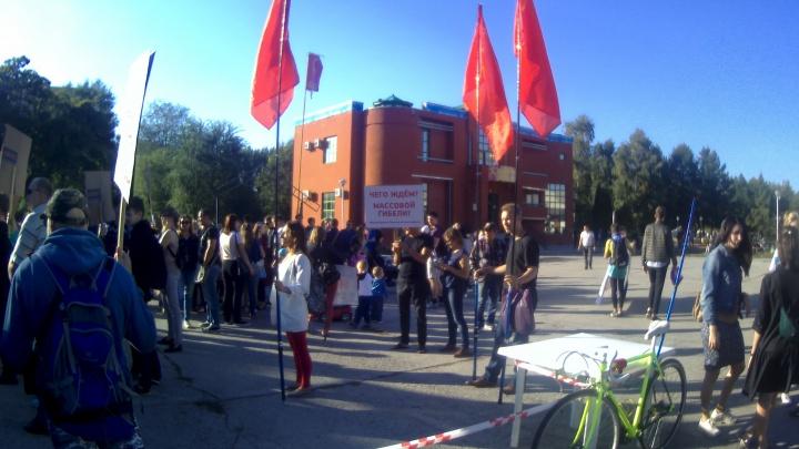 «Спасите наших детей»: в Тольятти прошел первый митинг против загрязнения воздуха