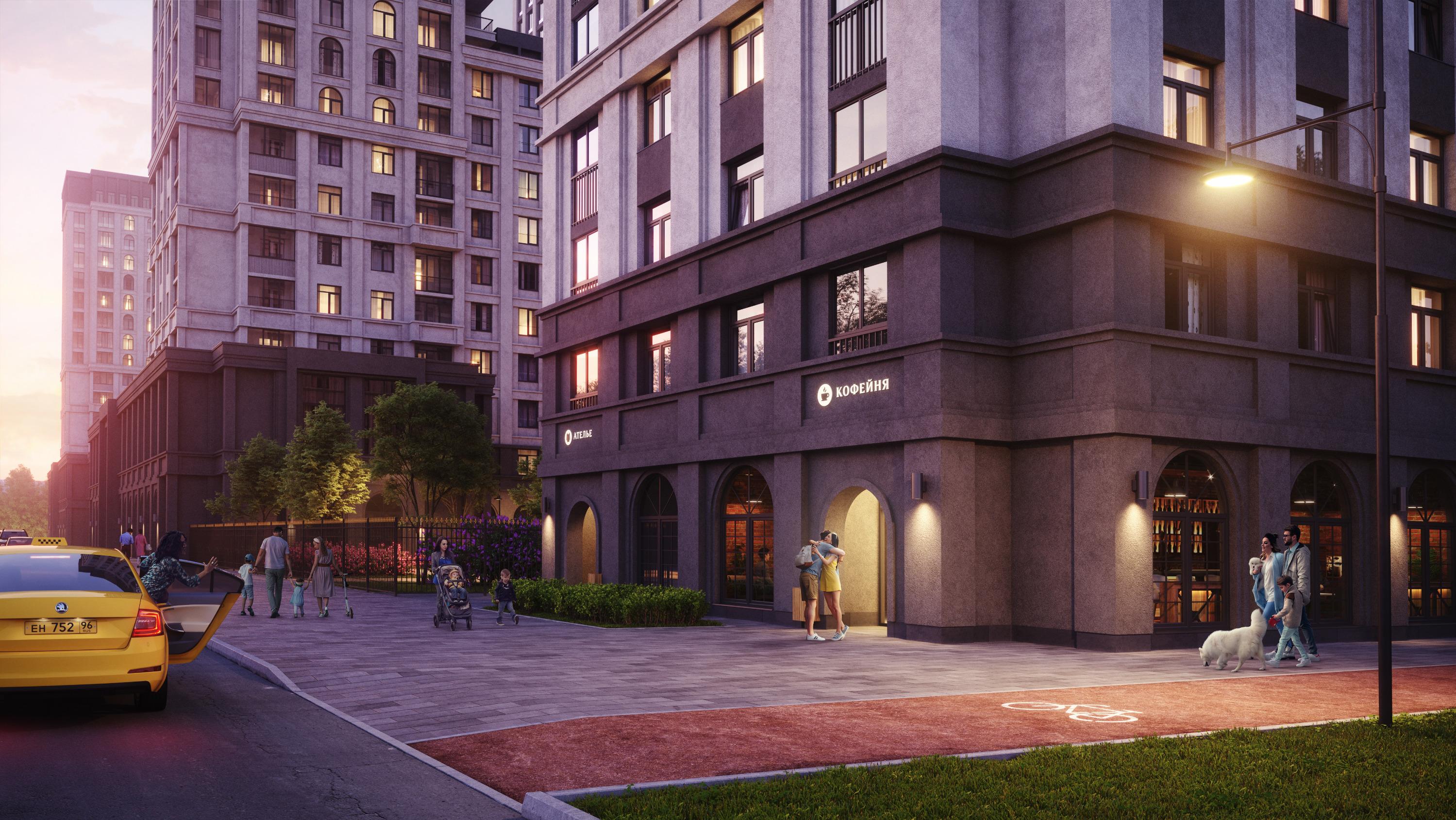 Квартал принесет микрорайону новые кафе, магазины и даже велодорожку