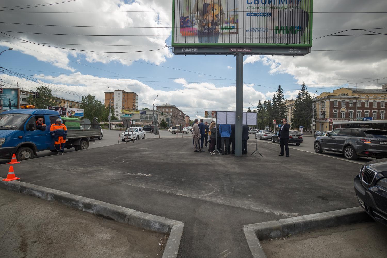 Островки безопасности на пересечении ул. Гоголя и Красного проспекта