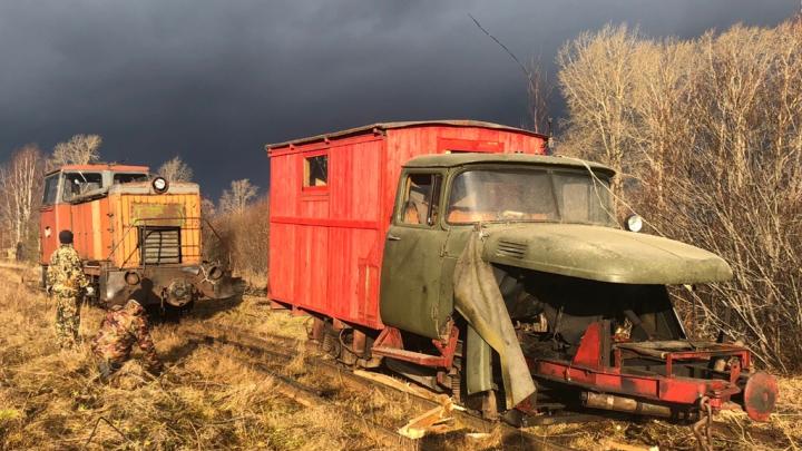 Пожарная дрезина из Архангельской области стала экспонатом музея узкоколеек под Великим Новгородом