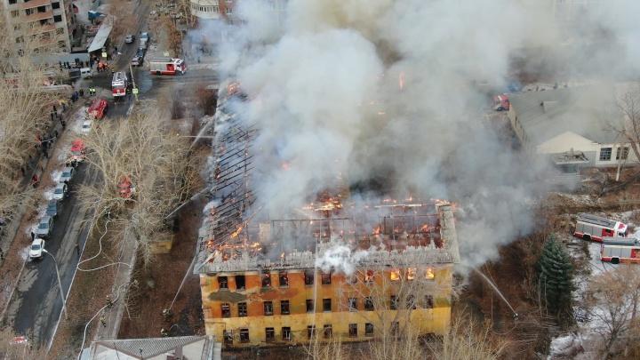 «Пожарные работали в шесть стволов!»: ЧП на Гая — Панова сняли с квадрокоптера