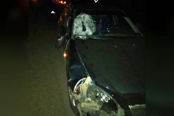 Водитель сбил человека поздно ночью
