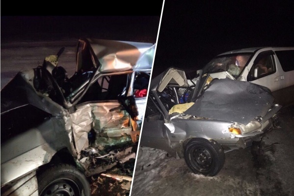 Авария произошла возле посёлка Ордынское