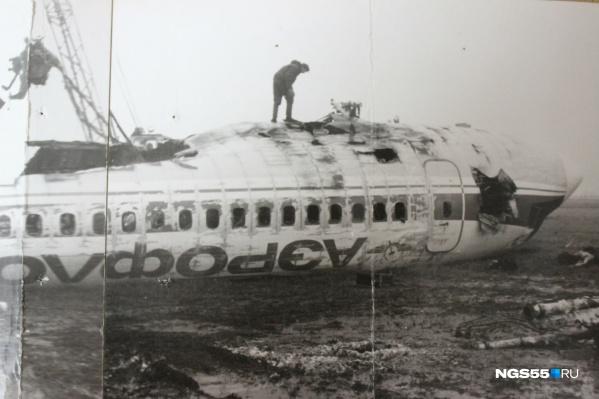 В крушении спаслись пилоты —кабину оторвало, а огонь не попал к ним через заклинившую дверь
