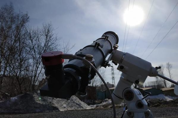 Астроном знал точное время, когда станция будет проходить на фоне Солнца