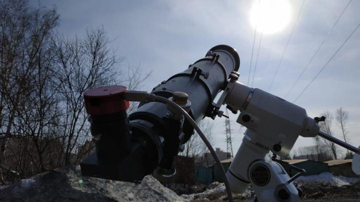 Новосибирец снял полёт МКС на фоне Солнца (видео)
