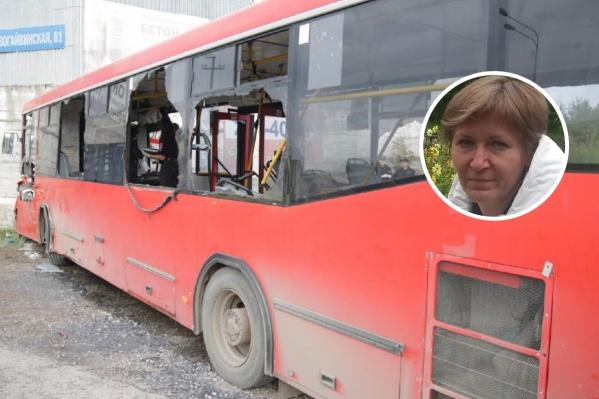 Кондуктор серьезно пострадала в аварии с автобусом
