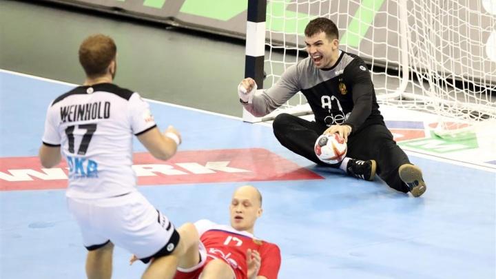 Сюрприз для хозяев: волгоградский вратарь помог сборной России остановить немцев на ЧМ