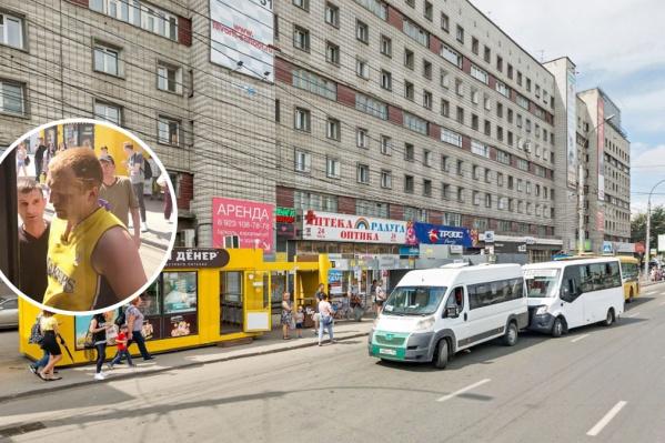 Пассажир маршрутки залез в кабину водителя автобуса на площади Маркса