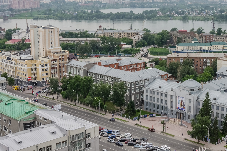Проект предполагает благоустройство Красного проспекта от пл. Ленина до набережной