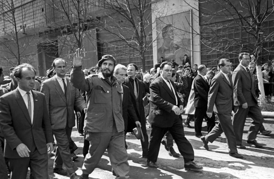 Фидель Кастро на Уралмашзаводе