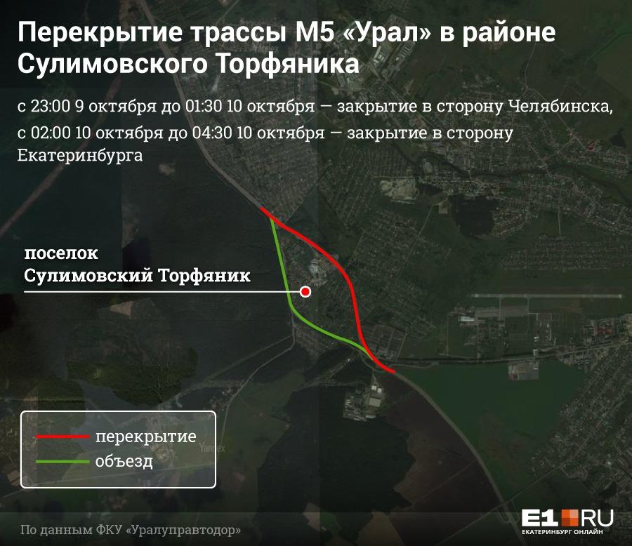 Челябинский тракт перекроют ночью для строительства пешеходных переходов