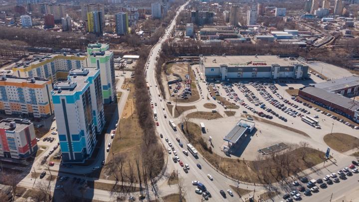 Мост на улице Карпинского в Перми расширят с двух до шести полос