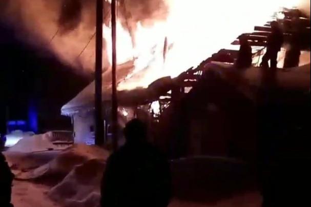 Тушили два часа: на окраине Перми сгорела сауна