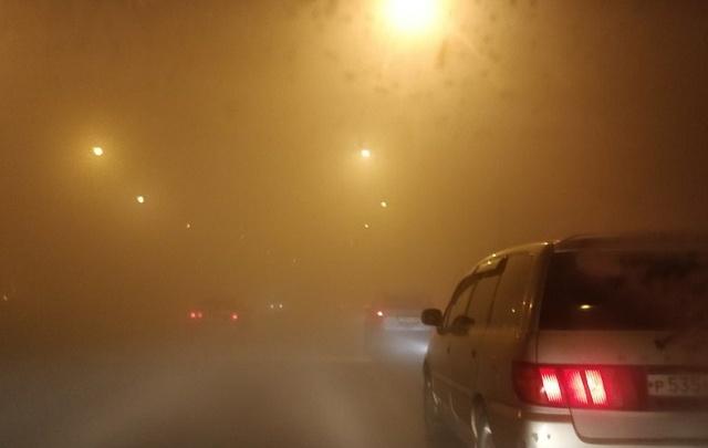 На Омск опустился смог из-за безветрия