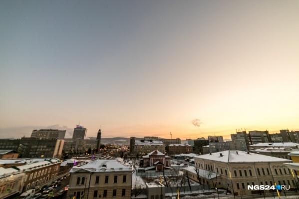 В Красноярске аномально теплая зима