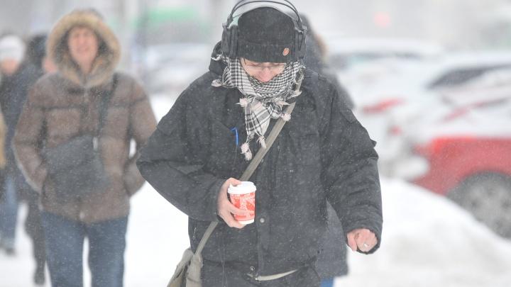 В Екатеринбурге выпало 30% месячной нормы снега