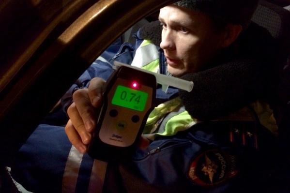 12 из пойманных во время рейда пьяных водителей ранее уже попадались нетрезвыми за рулём
