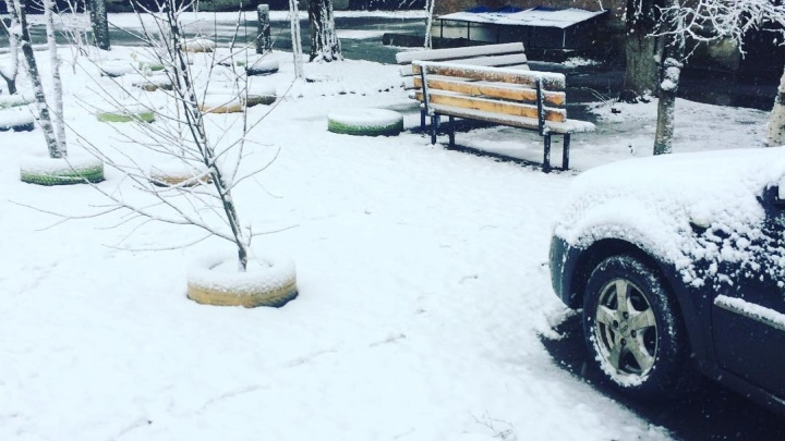 Пятый месяц зимы: в центральных районах Ростовской области выпал снег