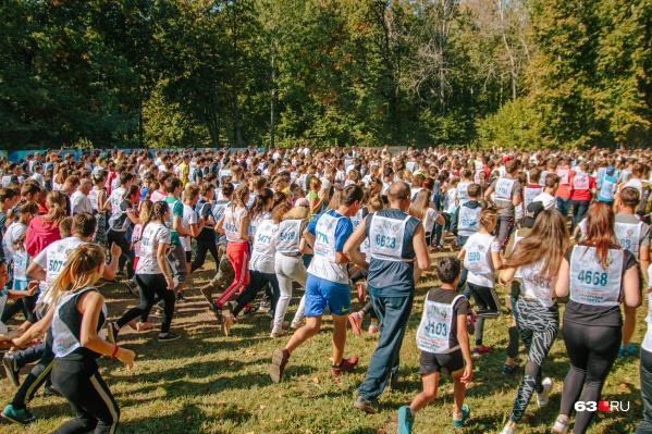 В прошлом году в забегах участвовали 9000 самарцев