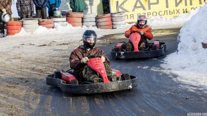 В Екатеринбурге любители прокатиться с ветерком выяснили, кто быстрее, на соревнованиях по картингу