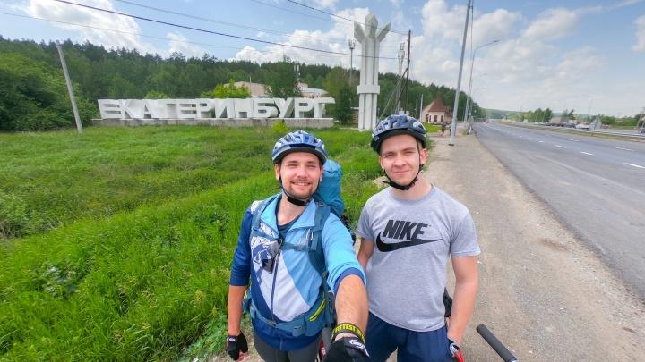 Екатеринбуржец на самокате доехал из Екатеринбурга до Москвы