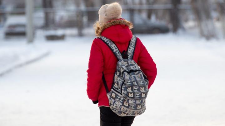 В Челябинске из-за морозов отменили занятия школьникам, учащимся во вторую смену