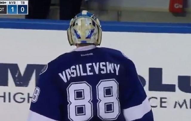 Уфимец Андрей Василевский стал первой звездой матча НХЛ