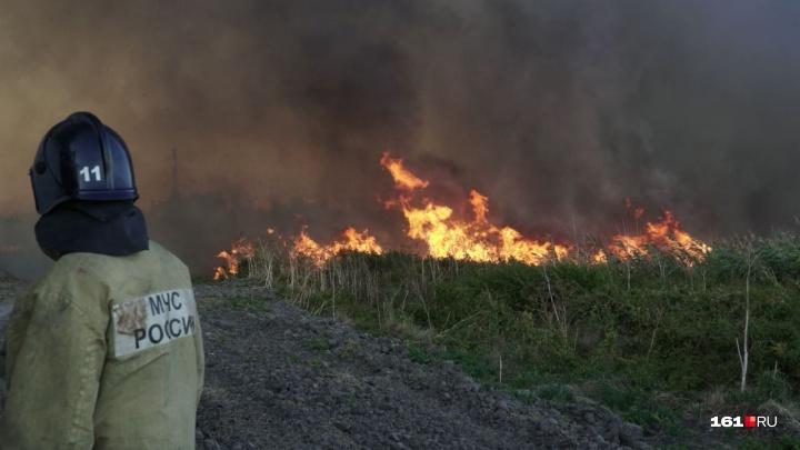 В нескольких районах Ростовской области снова возник риск природных пожаров