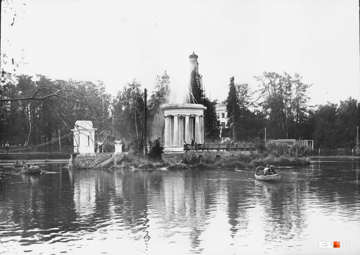 Ротонда — фонтан в парке Дворца пионеров. 1930-е годы