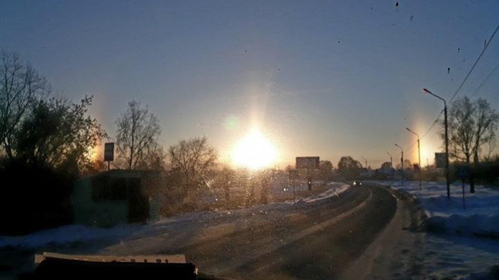 Над Башкирией вспыхнули два солнца