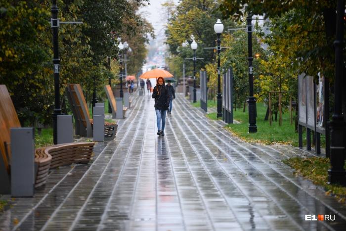 В столице Среднего Урала ожидается теплая, но дождливая погода