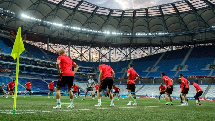 Сборная Польши готовится к матчу чести на«Волгоград Арене»