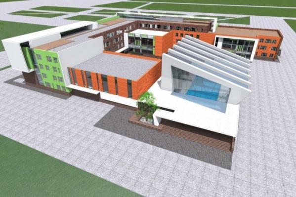 Так будет выглядеть образовательный центр, но с незначительными изменениями