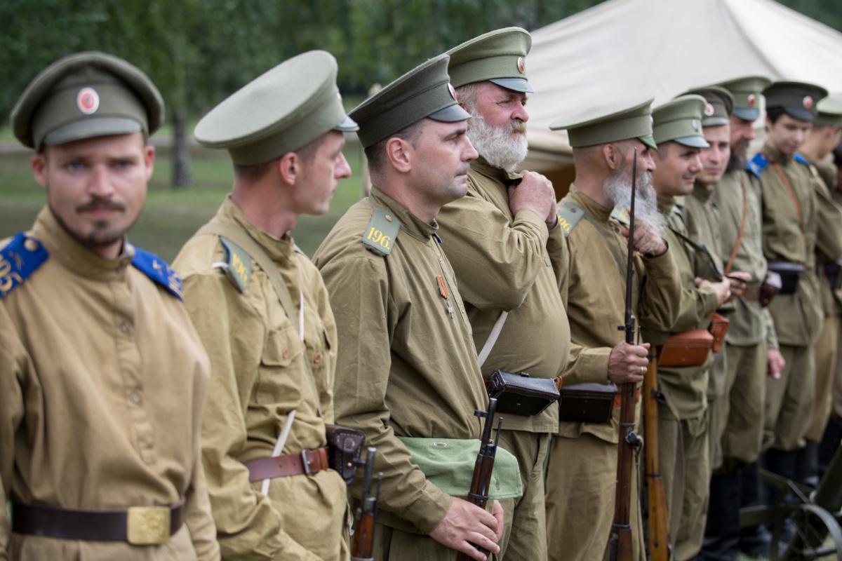Зрители увидели штурм полевых укреплений австро-венгерских войск