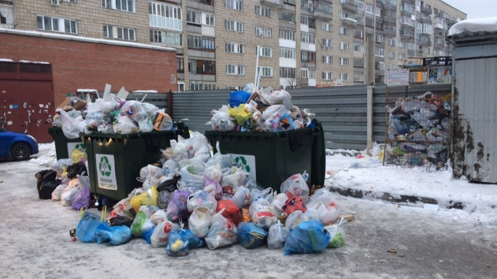Власти обещали вывезти мусор. Прошло 3 дня — вот что творится во дворах Новосибирска