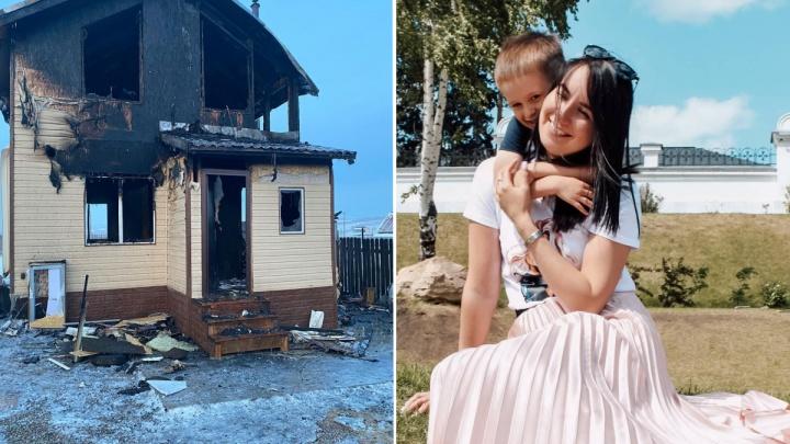 «Может быть поджог»: девушка с 5-летним ребёнком осталась без вещей и дома из-за страшного пожара