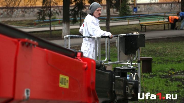 В Уфе строители готовят «холст» для граффити-художника