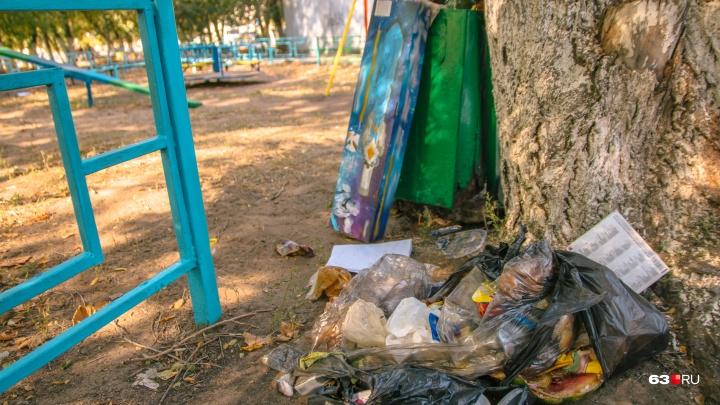 Выкрасят в зеленый и черно-белый: в Самаре приведут в порядок урны и бордюры